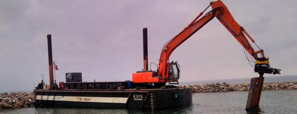 TM Havn A/S - Uddybning - Molebygning - Ramning/Vibrering - Både- og badebroer - Havneanlæg
